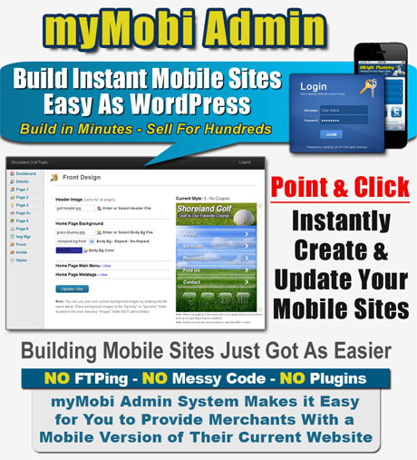 Build mobile websites with myMobi software.
